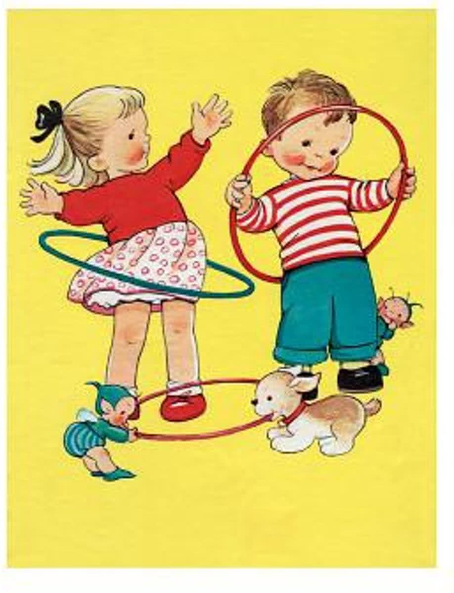 Children with Hula Hoops Friendship Greeting Cards [With Envelope]